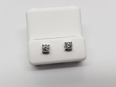 Studs-067 0.50ct de diamants en or blanc 10k - orquebec