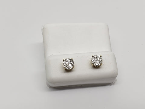 Studs-068 0.25ct de diamants en or jaune 10k - orquebec