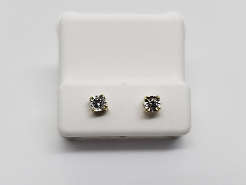 Studs-069 0.15ct de diamants en or jaune 10k - orquebec