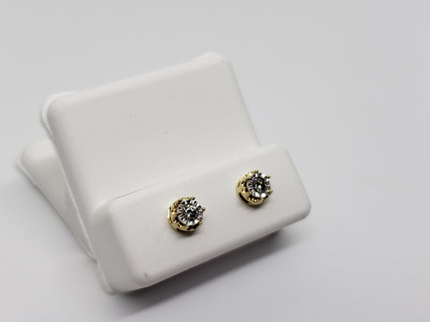 Studs-070 0.15ct de diamants en or jaune 10k - orquebec