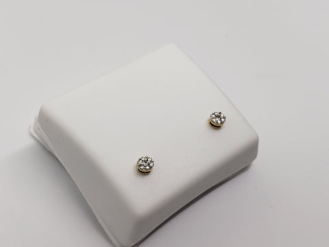 Studs-072  0.10ct de diamants en or jaune 10k - orquebec