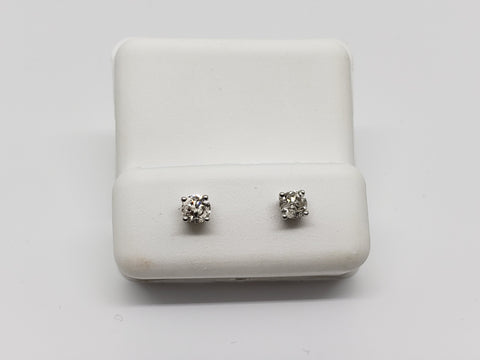 Studs-073  0.40ct de diamants en or blanc  14k - orquebec