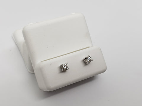 Studs-075  0.20ct de diamants en or blanc  14k - orquebec