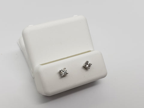 Studs-076  0.20ct de diamants en or blanc  14k - orquebec