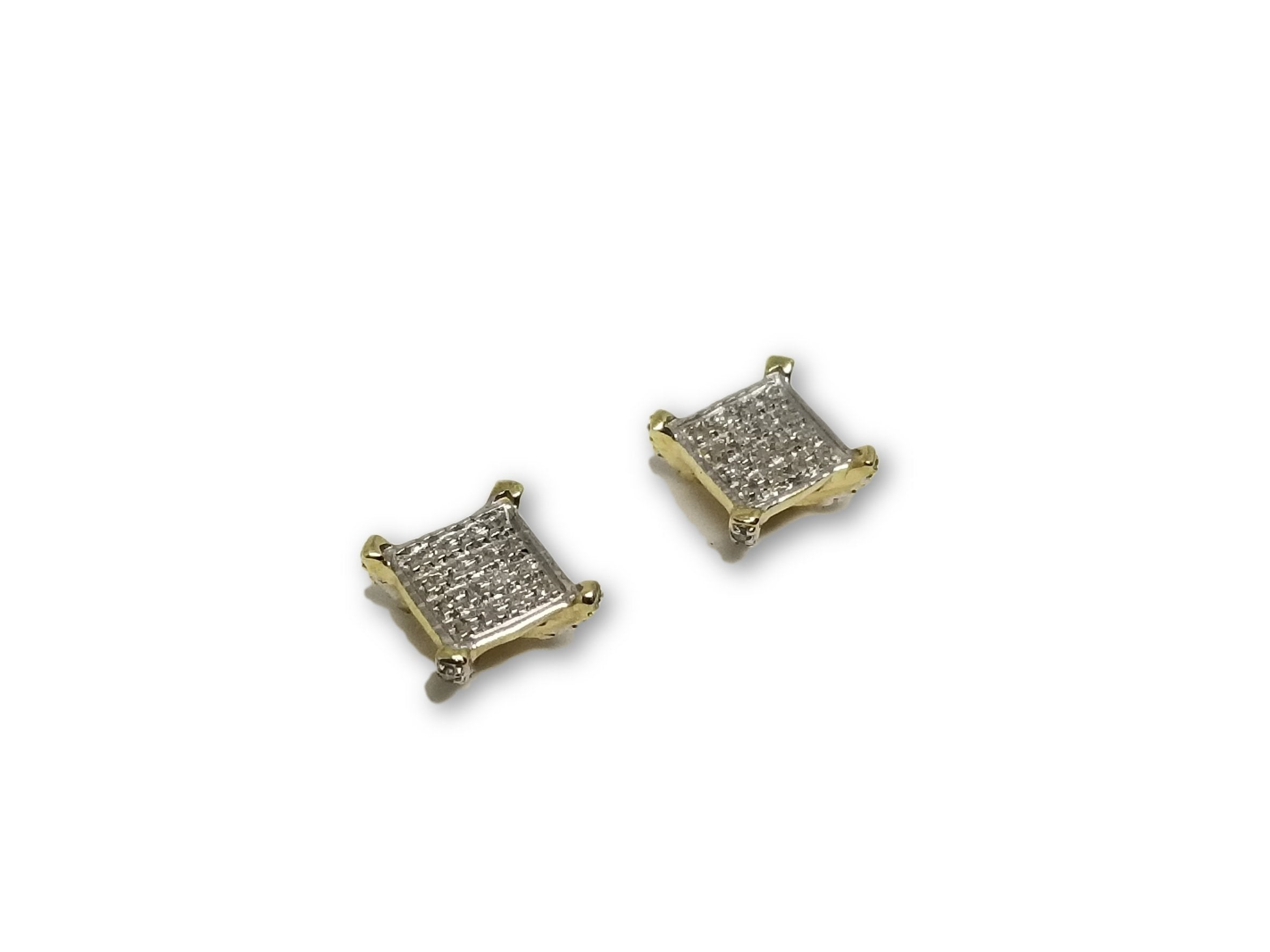 Studs031 0.11ct de diamants en or 10k - orquebec