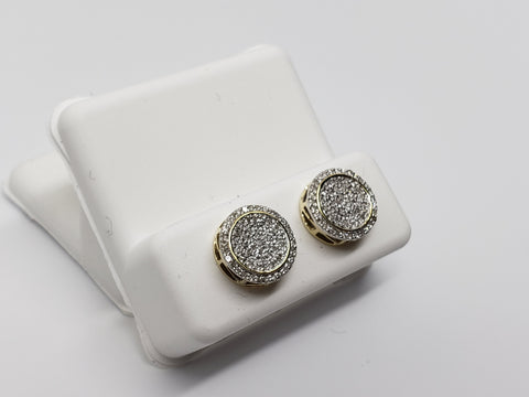 Studs041 0.27ct de diamants en or jaune 10k - orquebec