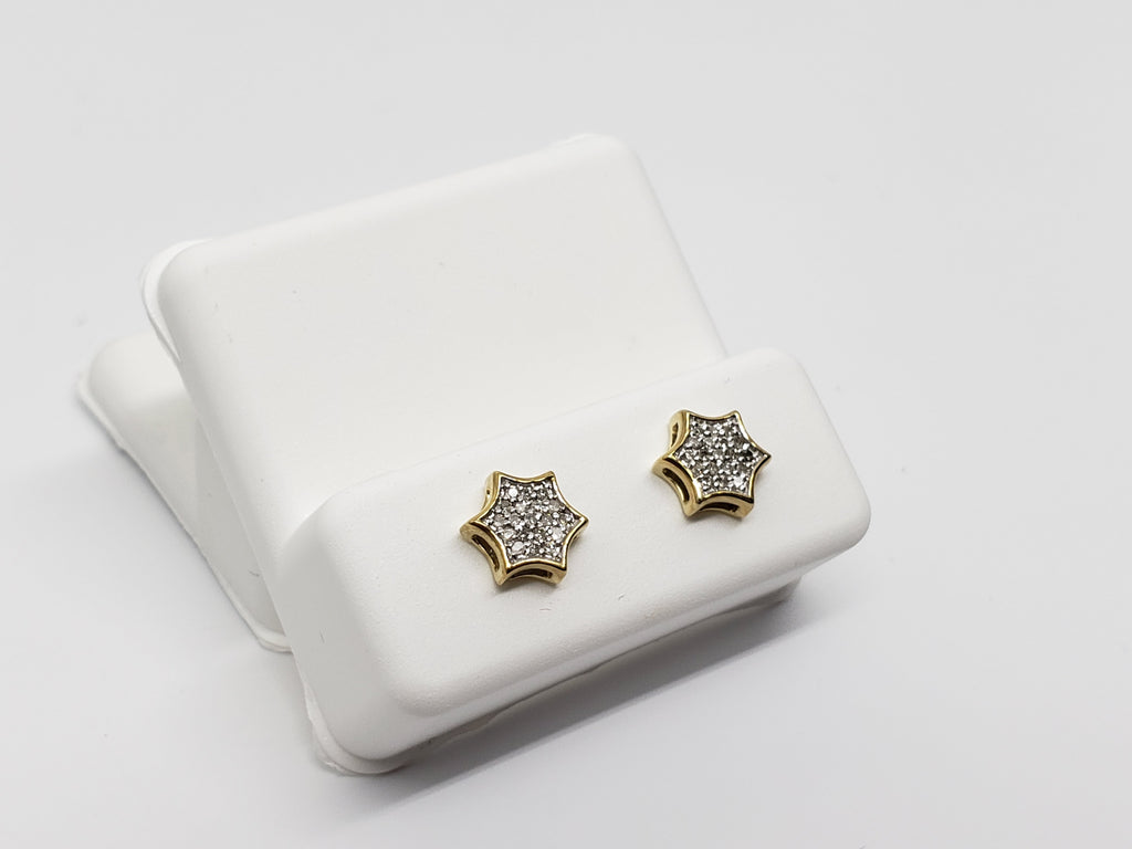 Studs045 0.08ct de diamants en or jaune 10k - orquebec