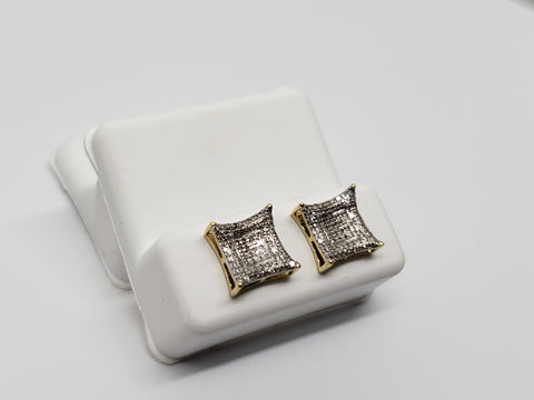 Studs052 0.35ct de diamants en or jaune 10k - orquebec