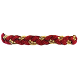 Chenille and Chain Braided Bracelet with Clasp