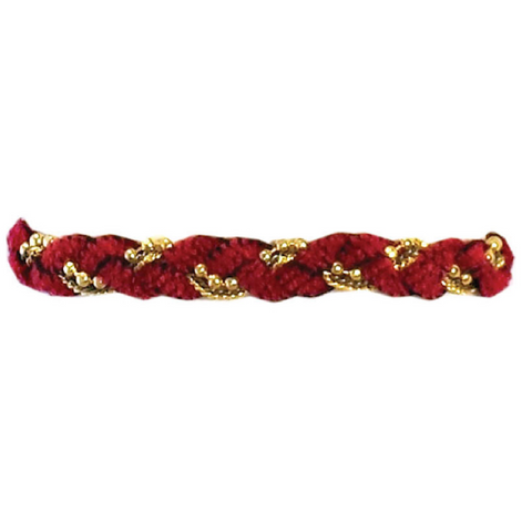 Chenille and Stone Bracelet with Clasp