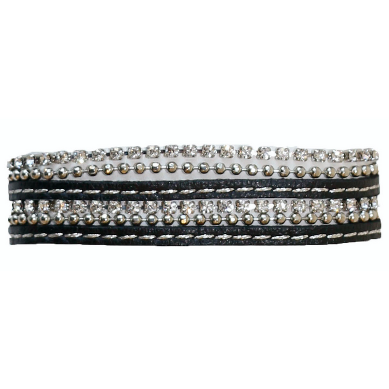 Leather and Rhinestone Wrap with Clasp