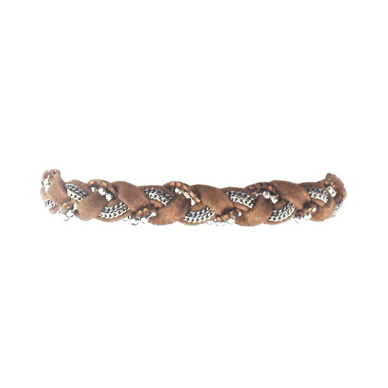 Chained Leather Bracelet with Clasp