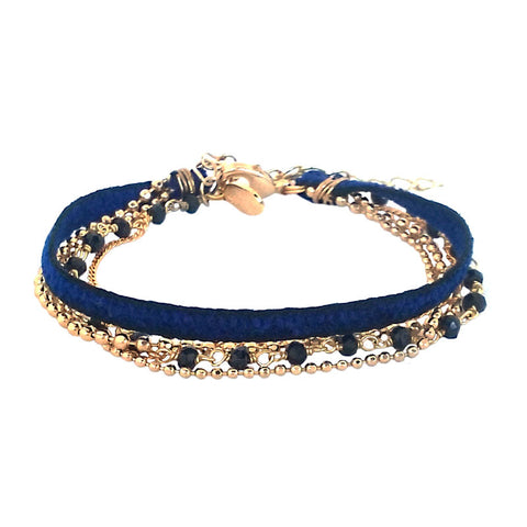 Double Sided Ornamental Loop Bracelet with Clasp