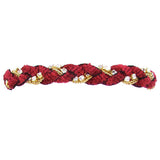 Chenille and Swarovski Rhinestone Bracelet with Clasp