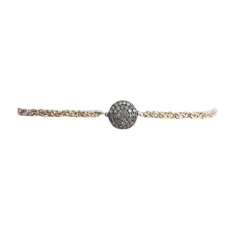 Medium Circle Diamond Bracelet