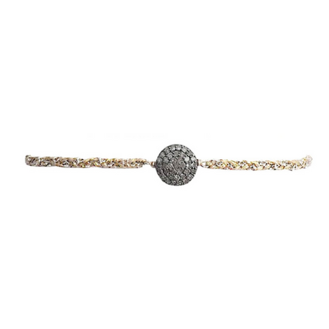 Gold Studded Medium Diamond Circle Choker