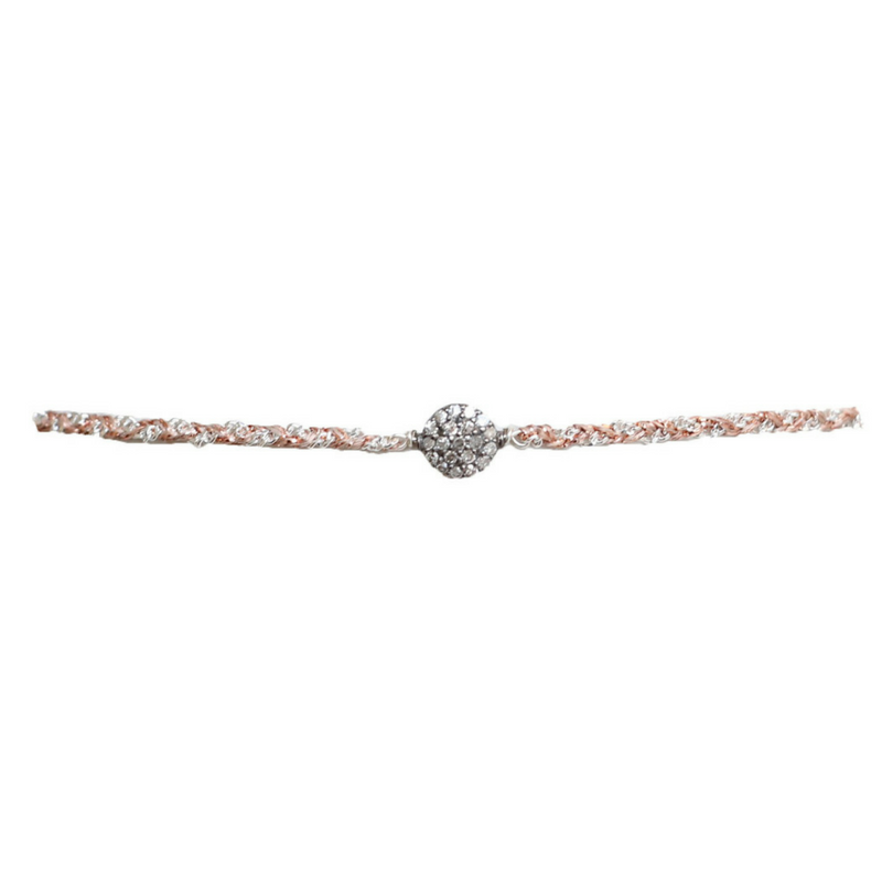 Silver Pave Diamond Circle Choker