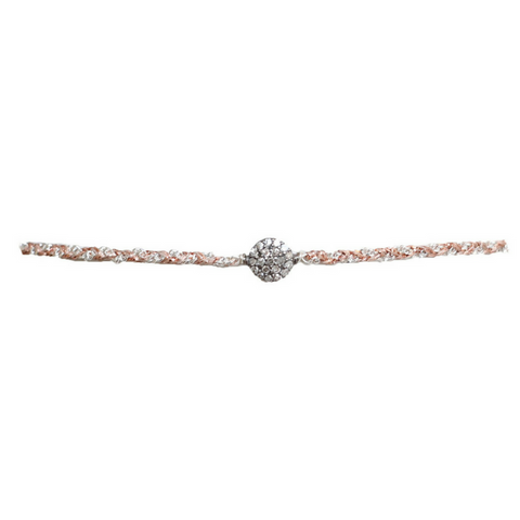 Pave Diamond Gold Ball Choker