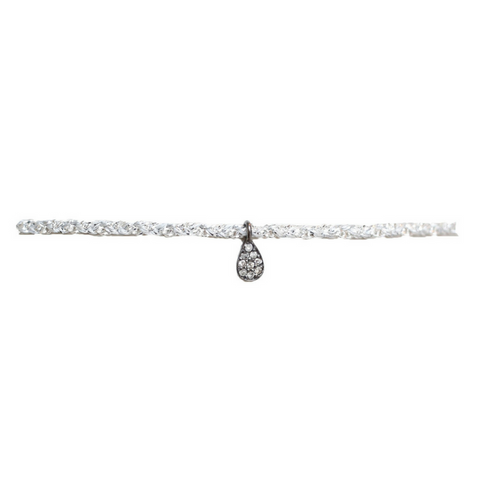 Dangling Diamond Circle Choker