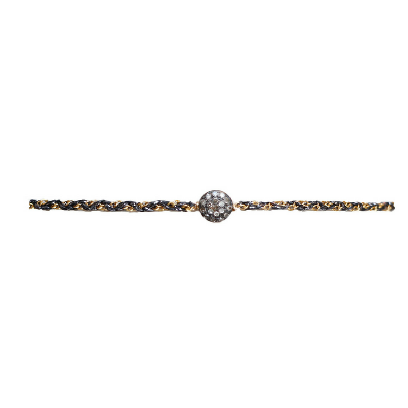 Oxidized Pave Diamond Choker