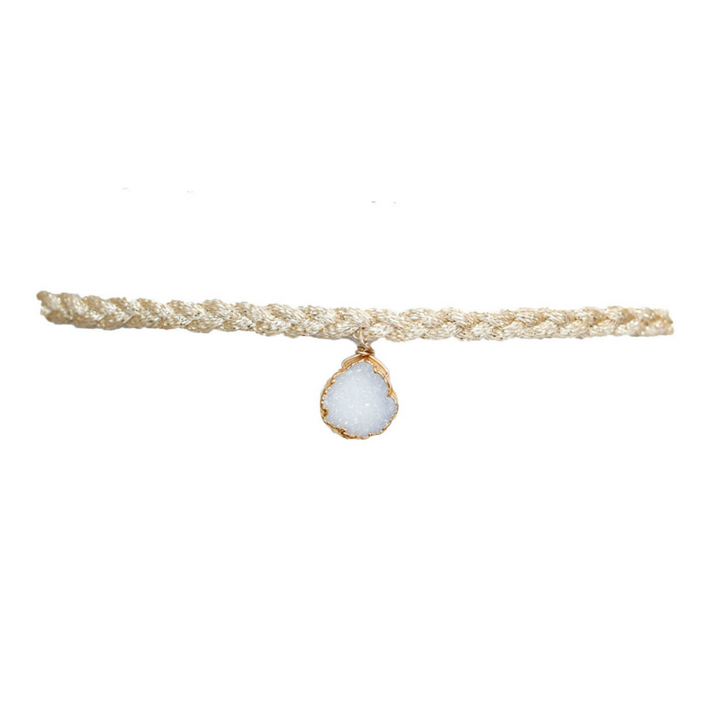 Druzy Dream Choker in White