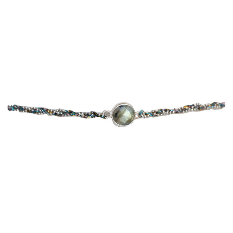 Small Semi-Precious Circle Stone Choker