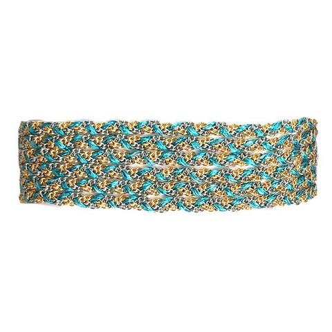Ultra Suede Tear Wrap in Turquoise