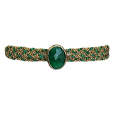 Classic Stone in Green Onyx with Clasp