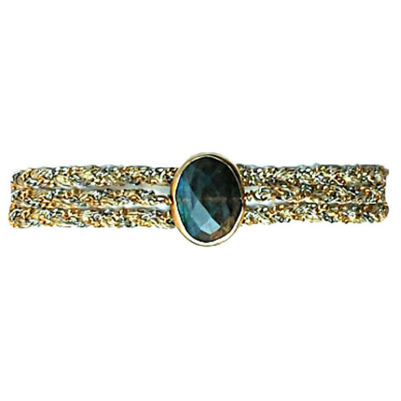 Classic Stone in Labradorite with Clasp