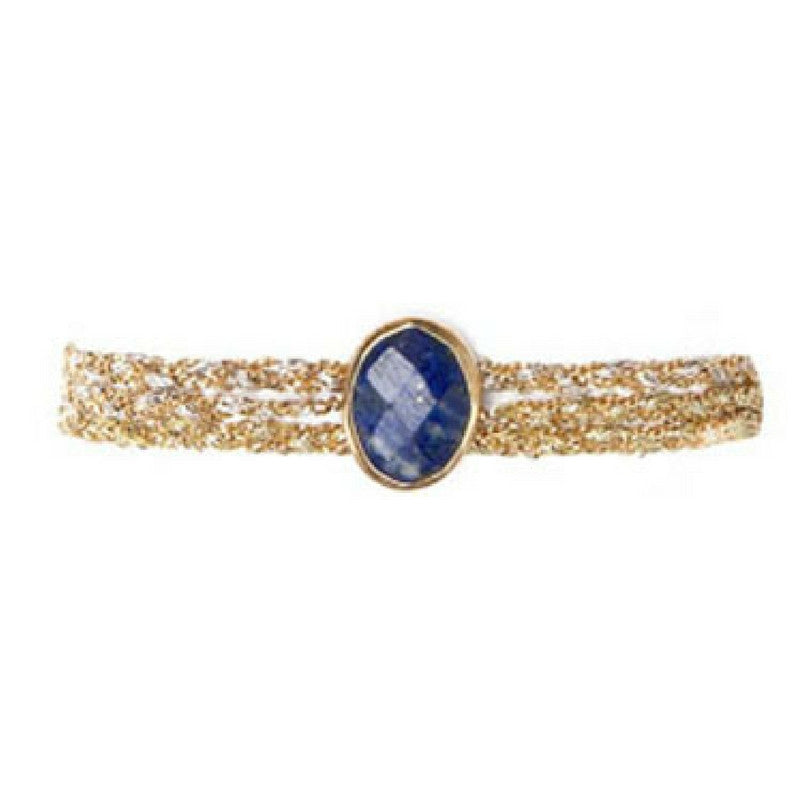 Classic Stone in Lapis with Clasp
