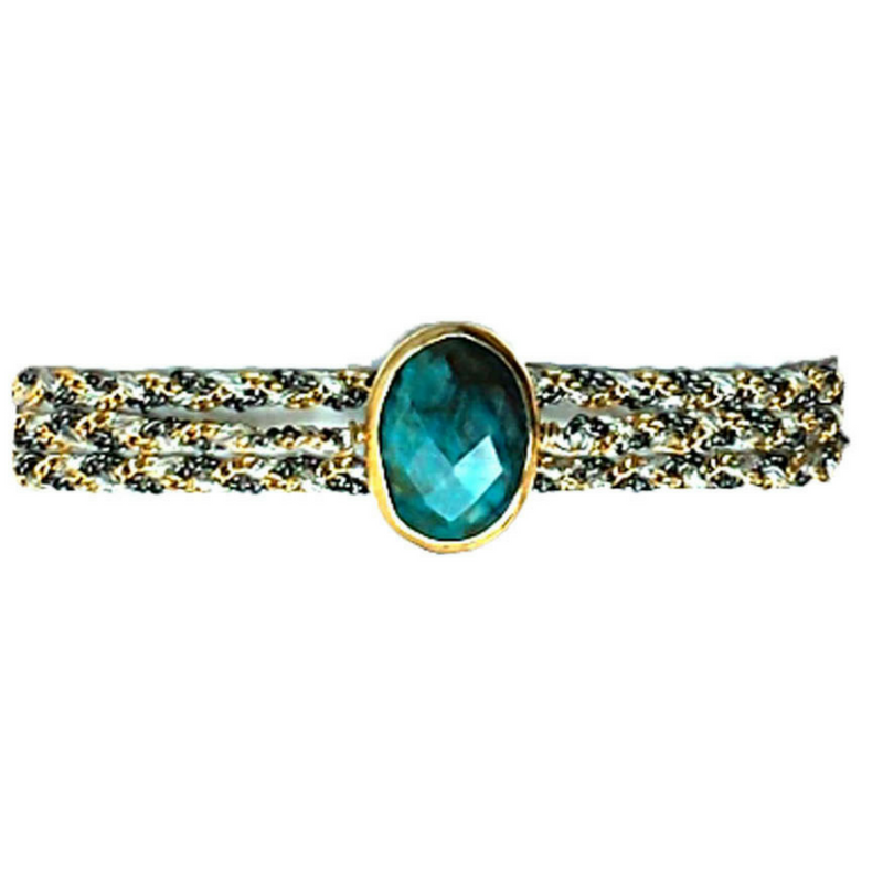 Classic Stone in Chrysocolla with Clasp