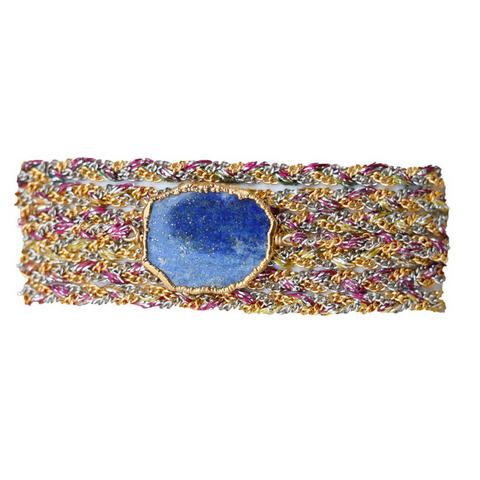 Druzy Stone Wrap in Purple Blue