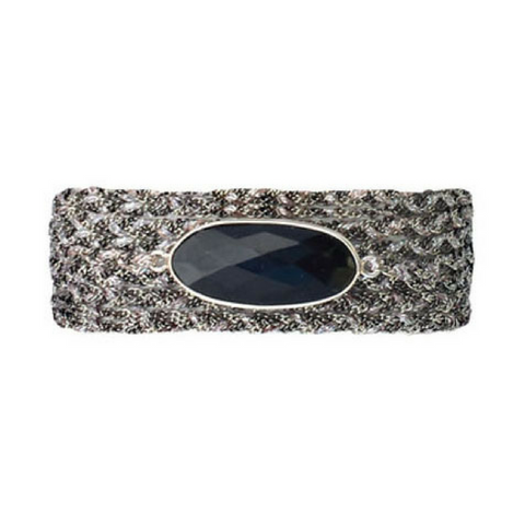 Metallic Ribbon Diamond Choker in Sapphire Circle
