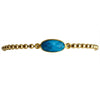 Oval Semi Precious Gemstone & Shiny Gold-FIlled Beaded Bracelet