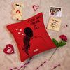 Love You Forever and ever Romantic Cushion Cover -Valentines Gift Combo