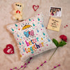 Loving, Caring Better Together Cushion Cover -Anniversery Gifts, Valentines Gifts Combo