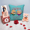 Love is growing old with you cushion Cover -Anniversery Gift, Valentine Gift Combo