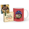 Khurafati Mug with Mini Frame (Red)