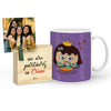 Pyari Dulari Mug with Mini Frame (Purple)