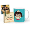 Jugaadu Mug with Mini Frame (Blue)