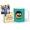 Manmoji Mug with Mini Frame (Blue)
