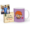 Romeo Mug with Mini Frame (Purple)