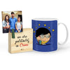 Padhaku Mug with Mini Frame (Blue)