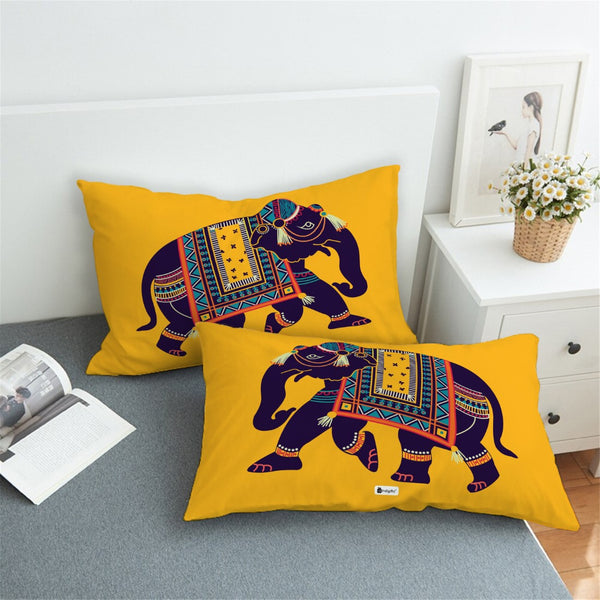 Printed Pillow Covers  Ethnic Print Décor For Home, Designer Pillow Cases, Vibrant Color Pillows for Sofa