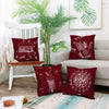 Mandala theme Food Printed 4 Cushion Covers