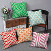 Geometric Print 5 Cushion Cover Set (Multi)