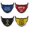 3-Layer Reusable Protective Mask - Pack of 4 Quirky Printed Quotes
