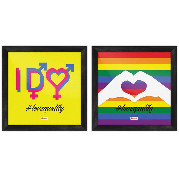 Love Equality Quote Abstract Expression for LGBT Multi Poster Frames Set of 2