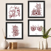 Travel Ethnic Design Mandala Print Set of 4 Poster Frames