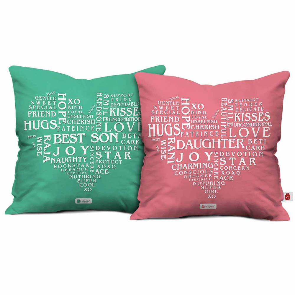 Words of Love Printed Cushion Cover Set of 2